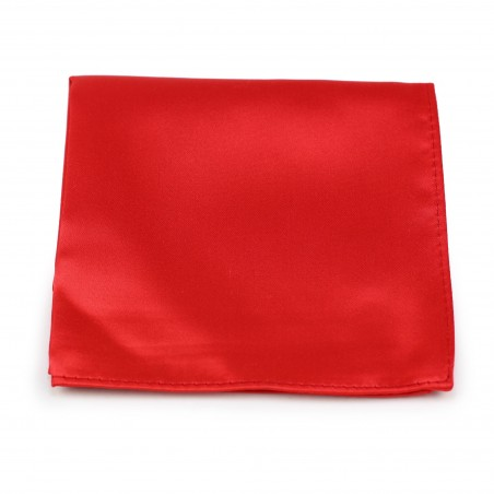Bright Red Pocket Square