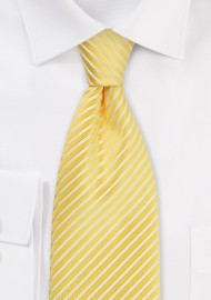 Elegant Striped Necktie in Maize-Yellow