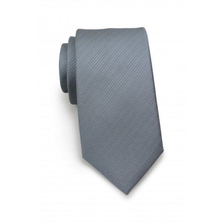 Classic Gray Textured Skinny Tie