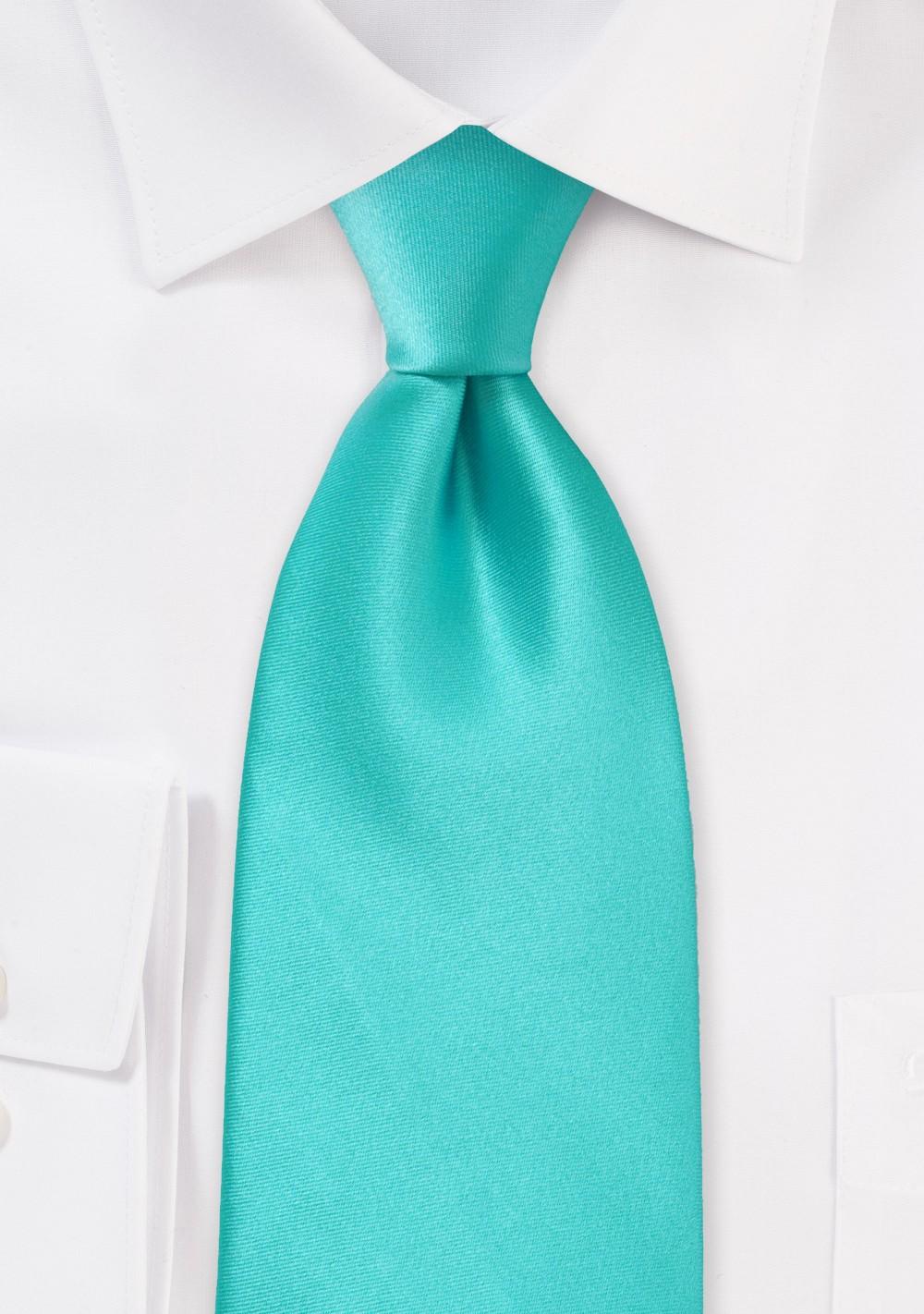 Mint Green Boys Neck Tie