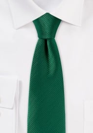 Trendy Skinny Tie in Emerald Green