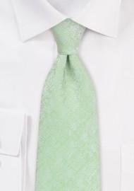 Light Cypress Green Tie in XL Length