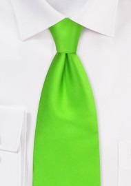 Bright Lime Green Kids Tie