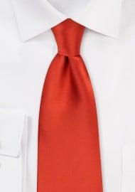 Dark Orange Necktie for Kids
