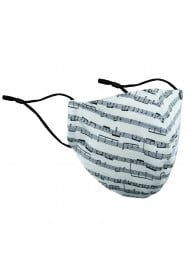 Classical Music Print Filter Mask in Cream