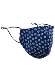 Navy Masks with English Daisy Print