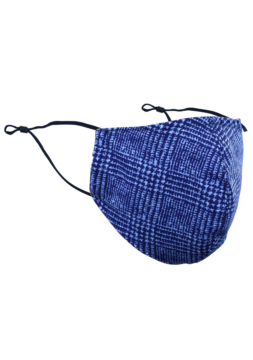 Prince of Wales Check Mask in Blue