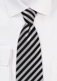 champagne and black striped silk mens neck tie