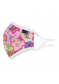 Pink Paisley Summer Kids Face Mask