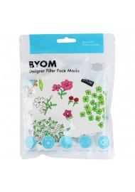 Spring Flower Print Cotton Mask in Mask Bag