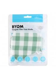 Tea Green Gingham Check Mask in Mask Bag