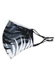 Palm Leaf Print Mask in Black and Gray