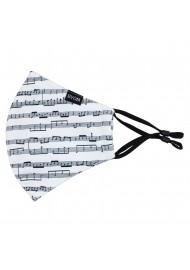 Classical Music Print Filter Mask in Cream