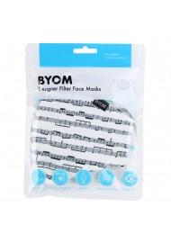 Classical Music Print Filter Mask in Cream in Mask Bag