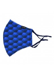 Hex Pattern Filter Mask in Blue