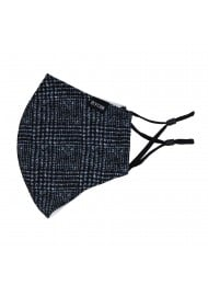 Prince of Wales Check Mask in Charcoal