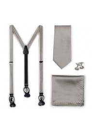 Elegant Silver Suspender...