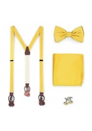 Sunflower Yellow Suspender Bowtie Set