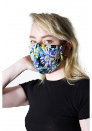 COTTON FLORAL MASK WITH NANO FILTER STYLED
