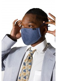 Solid Blue Filter Mask in Pure Cotton