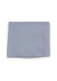 Shadow Gray Pin Dot Tie Hanky