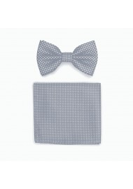 Shadow Gray Bow Tie and Hanky Set