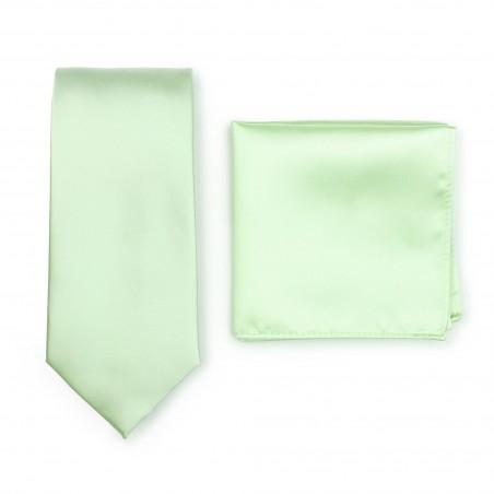 Necktie + Hanky Set in Wintermint Green