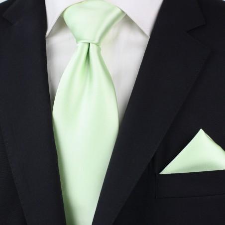 Necktie + Hanky Set in Wintermint Green Styled