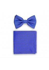 Horizon Blue Pin Dot Bow Tie Set