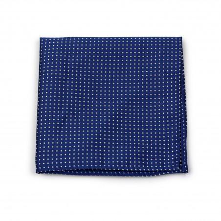 Royal Blue Pin Dot Pocket Square