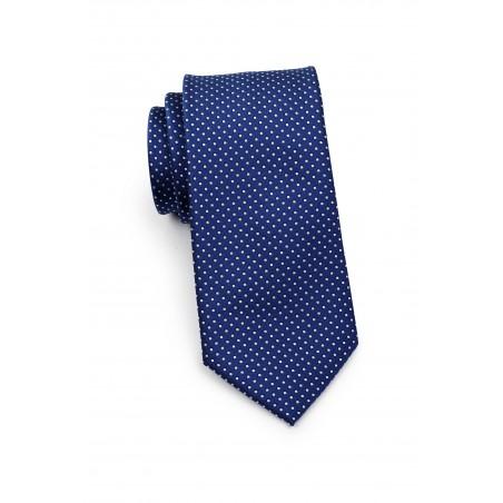 Royal Blue Pin Dot Tie