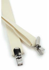 Elastic Band Suspenders in Champagne Cream Clips