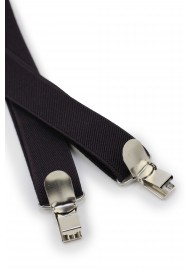 Elastic Mens Suspenders in Brown Clips