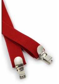 Mens Suspenders in Bright Red Clips
