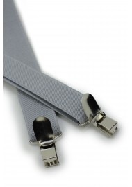 Solid Silver Suspenders Clips