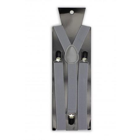 Solid Silver Suspenders Packaging