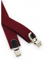 Cherry Red Suspenders Clips