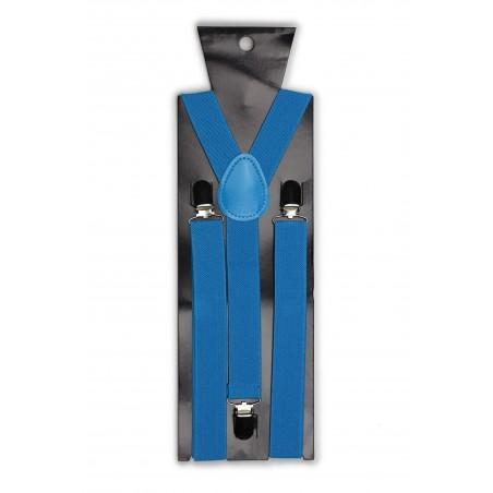 Mens Suspenders in Cyan Blue Packaging
