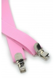Bright Pink Mens Suspenders Clips