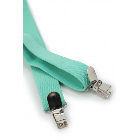 Solid Suspenders in Beach Glass Clips