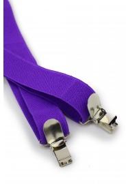 Mens Suspenders in Freesia Purple Clips