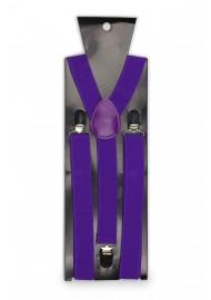 Mens Suspenders in Freesia Purple Packaging