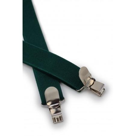 Suspenders in Hunter Green Clips