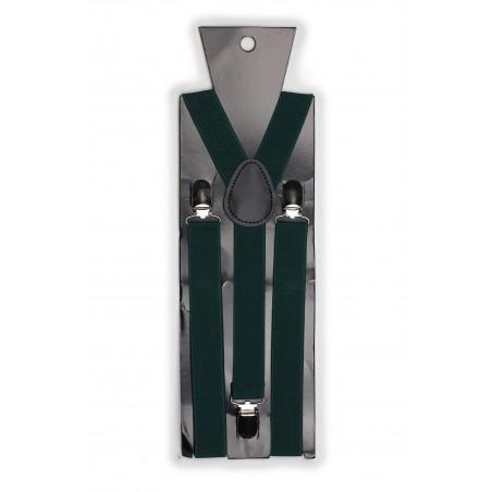 Suspenders in Hunter Green Packaging