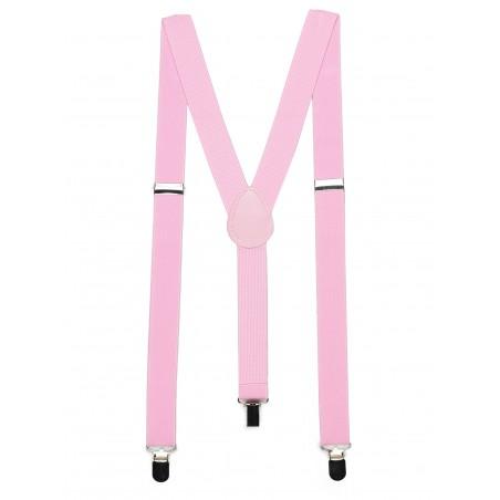 Bright Pink Mens Suspenders
