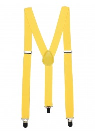Mens Suspenders in Sunbeam Yellow