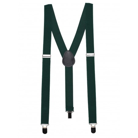 Suspenders in Hunter Green