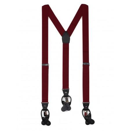 Wine Red Mens Herringbone Suspender