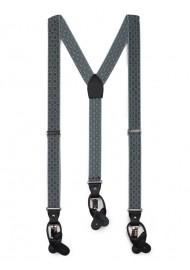 check plaid gray elastic suspenders