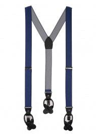 navy blue pin striped mens dress suspenders